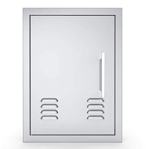 Sunstone BA-VDVL1420 Signature Series abgeschrägter Rahmen Zugang Grill Outdoor Kochtüren Edelstahl