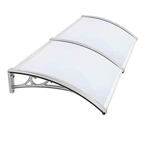 Door Canopy Toldo refugio, resistente al viento y al frío, cubierta blanca para jardín, porche, ventana, garaje (color: blanco, tamaño: 80 x 160 cm)