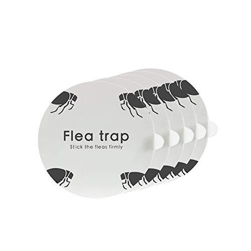 ZZC Flea Trap with 2 Glue Discs Simple Installation Non-Toxic No Insecticides Trap Killer Best Pest Control for Home (Flea Traps Sticker)