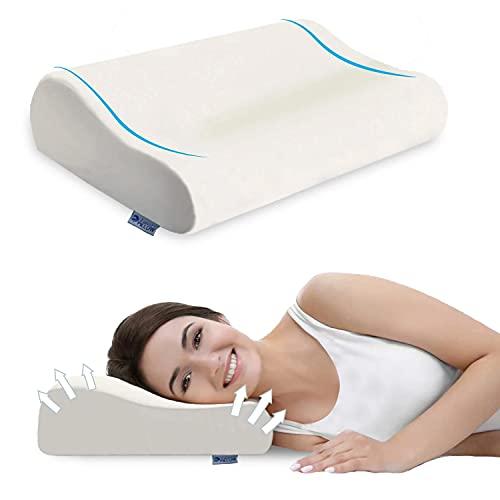 i Soft Pillow Almohada de espuma con memoria de forma, almohada ergonómica cervical, almohada ortopédica anti dolor, anti ronquidos, almohadas cervicales para soporte de cuello