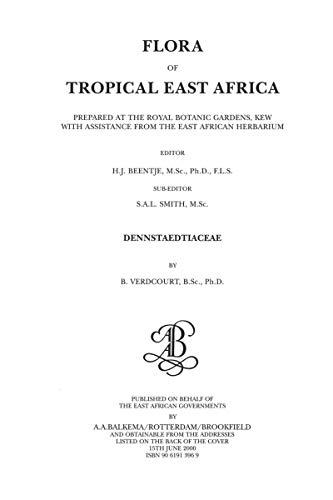 Flora of Tropical East Africa - Dennstaetiacea (2000)