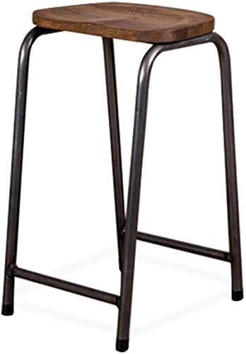 JYV. Sedia con poggiapiedi Sedie da Pranzo sgabelli industriali industriali per Cucina  Pub  .Café High Sgabelli Gambe in Metallo in Legno (Color : 65cm)