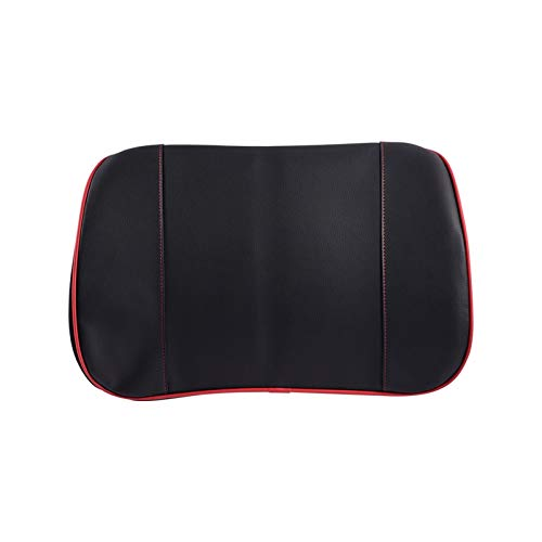 XIAOYING Leather Memory Foam Lumbar Support Pillow Lower Back Cushion Cushion Office Chair Car Seat (Color Name : Red)