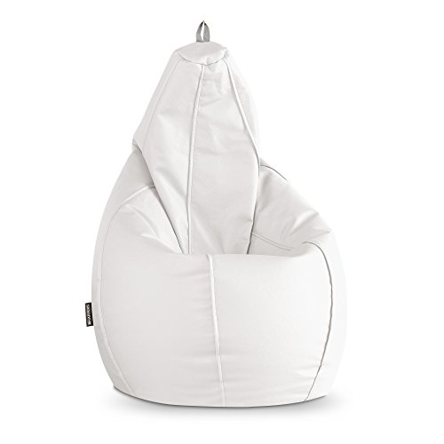 HAPPERS Puff Pera Polipiel Indoor Blanco XL