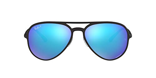 Ray-Ban 0RB4320CH Gafas de sol, Matte Black, 57 Unisex
