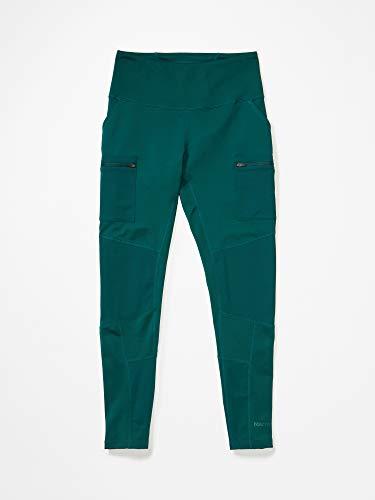 Marmot Wm's Zephira Tight Legging de Sport Femme, Pantalon de Yoga, Taille Haute, avec Poches, Idéal Pourr l'escalade, Respirant Femme Botanical Garden FR: XS (Taille Fabricant: XS)