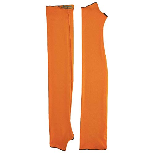 Eclipse Sun Products UPF 50+ Sun Sleeves, Large, Safety Orange