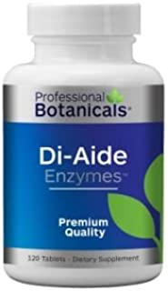 Professional Botanicals - Di Aide Enzymes - Advanced Multi Enzyme Supplement for Better Digestion & Absorption - GMP, NSF,...