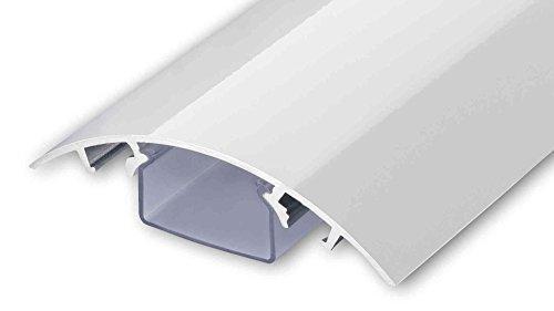ALUNOVO TV Design Aluminium Kabelkanal in Weiss Hochglanz lackiert in verschiedenen Längen (Länge: 20cm)