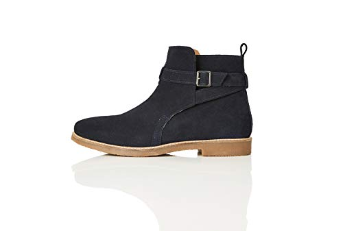 find. Ethan Jodhpur Chelsea Boots, Blau (Navy), 43 EU