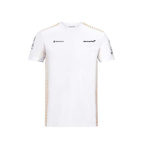 McLaren - Offizielle Formel 1 Merchandise 2020 Kollektion - Mens -Team T-Shirt - Team & Sponsor Logos - Kurzarm - Weiß - Größe L