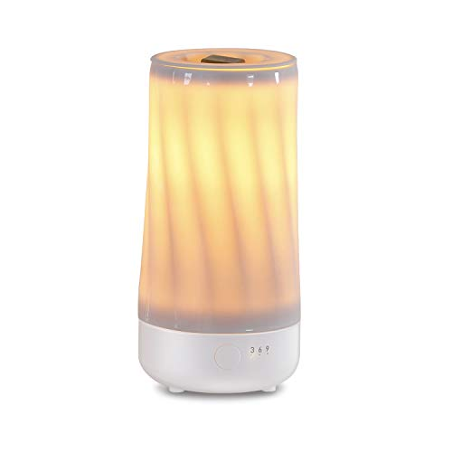 Electric Wax Melter with Silicone Container and Automatic Timer, 100% Safe, No Flame, Wick or Soot, Decorative Modern Design, The Dancing Flame