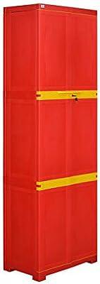 Nilkamal Freedom Mini Large Plastic Cabinet Red