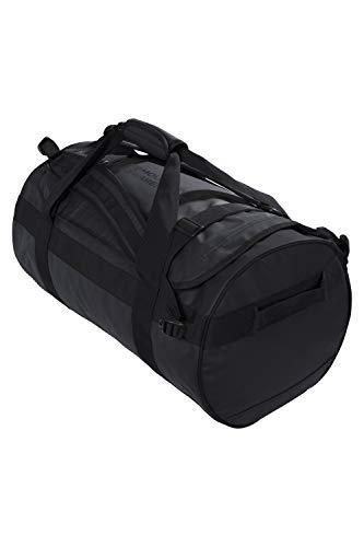 Mountain Warehouse 60-l-Transporttasche – Tages-/Rucksack, 3 Tragemöglichkeiten, robuste Riemen, Taschen, weiche Griffe, 1 Fach – für Reisen, Camping, Festivals, Frühling Schwarz