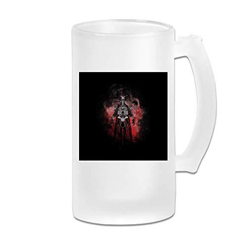 Gedruckte 16oz Milchglas Bier Stein Tasse Tasse - Thulsa Doom Silhouette Conan Der Barbar - Grafikbecher