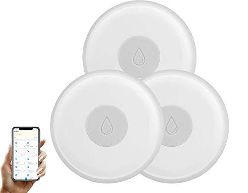 Sensori di perdite intelligenti, rilevatore di perdite dacqua wireless Zigbee, allarme intelligente di perdite e gocciolamento, monitor remoto APP Ewelink (hub Zigbee richiesto)
