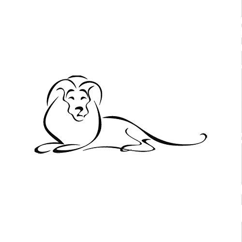 Wiederverwendbare Schablone mit Löwen-Motiv, größere Größen, Wanddekoration, Kinderzimmer/Animal79, Widerverwendbare PVC-Schablone, L size - 140 x 200 cm, 55.1 x 78.7 in