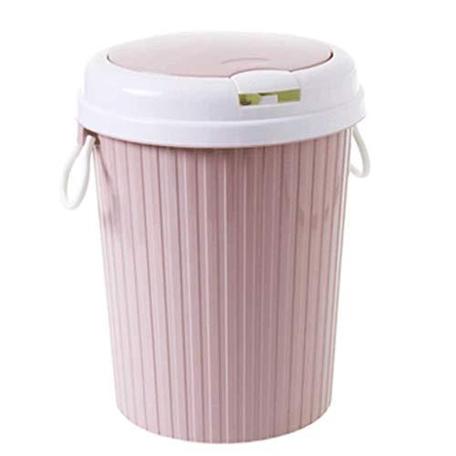 SHYPT Perder Cesta Papelera de Reciclaje Papelera Can Inicio Sala de Polvo Oficina de Basura de la Cocina Baño Garaje Capacidad