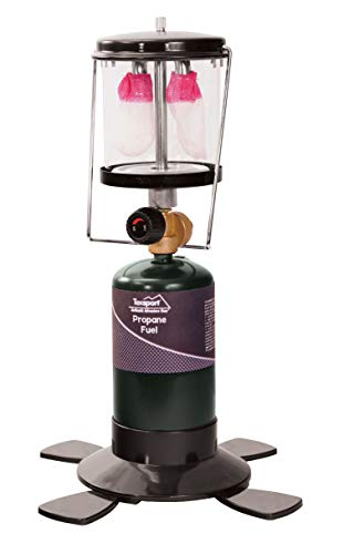Texsport Double 2 Mantle Propane Lantern for Outdoor Use , Green