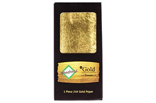 Weedness Gold Long Paper 24 Karat King Size 1 Blättchen - Rolling Paper aus echtem Gold Blunt Paper