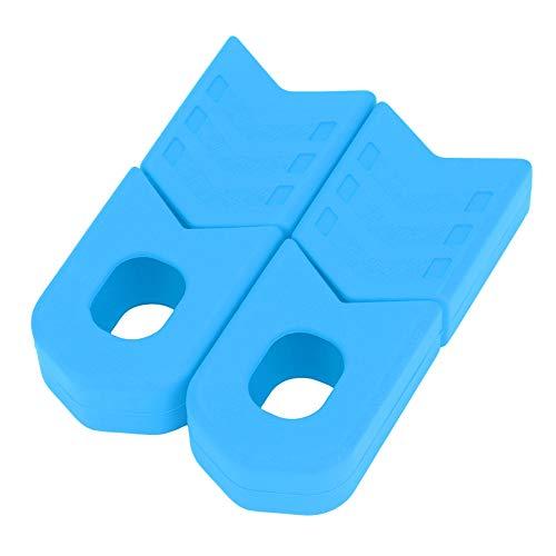 Alomejor 1 Paio Bici Manovella di Protezioni, Coppia Protezioni Pedivelle in Silicone per MTB e Bici da Strada(Blu)