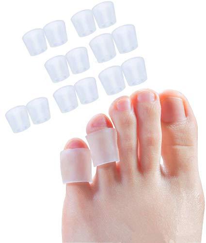 xwanli 12x Zehenschutz, Zehenkappen Silikon Für Männer und Frauen Zehenschutz Kleinere Zehen