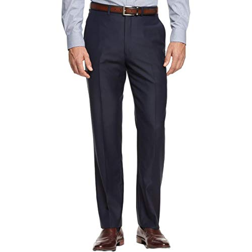 Ryan Seacrest Mens Solid Dress Pants Slacks, Blue, 40W x 32L