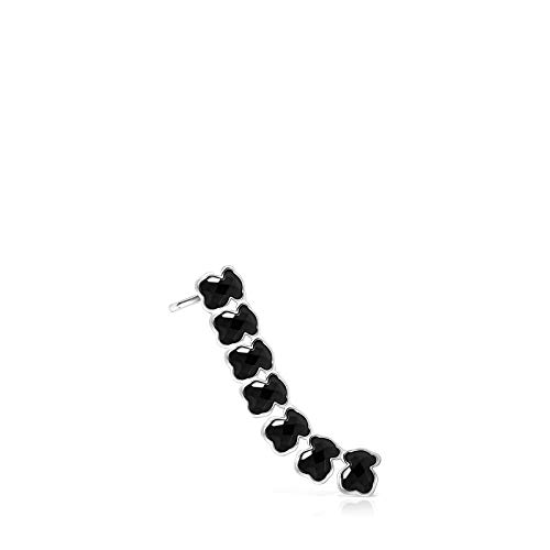 Pendiente Mini Onix - Color de Plata con Ónix