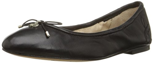 Sam Edelman Women's Felicia Ballet Flat, Black Leather, 7.5 M US