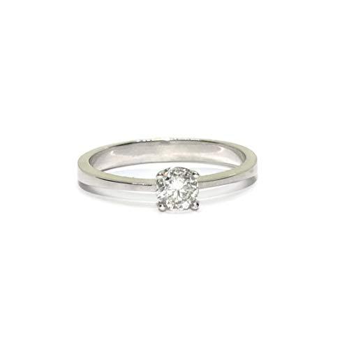 Never Say Never Solitario in oro bianco 18 K con diamanti di qualità eccezionale per la tua fede nuziale e Oro bianco, 10-20, cod. 07753372