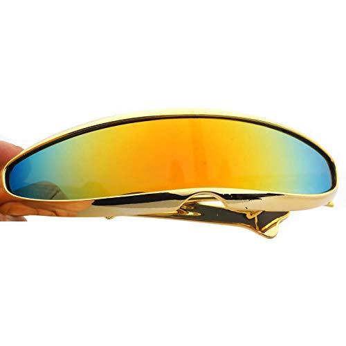 WQZYY&ASDCD Gafas de Sol Gafas De Sol De Cíclope Estrechas Vintage para Mujer, Lujosas Gafas De Personalidad, Nuevas Gafas De Moda,DecoraciónDivertida,Gafas De Sol para Hombre-4