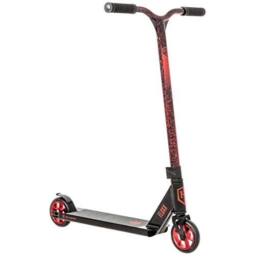 Grit Fluxx Pro Scooter - Stunt Scooter - Trick Scooter - Intermediate Pro Scooter - for Kids Ages 6+ and Heights 4.0ft-5.5ft (Black/Marble Red)