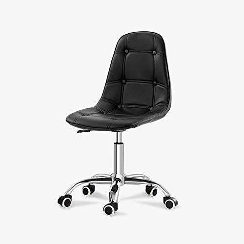 N/Z Daily Equipment Chairs Desk PU Leather Computer Adjustable Height Comfy Office Padded Swivel Home Office Furniture S (Color : White)