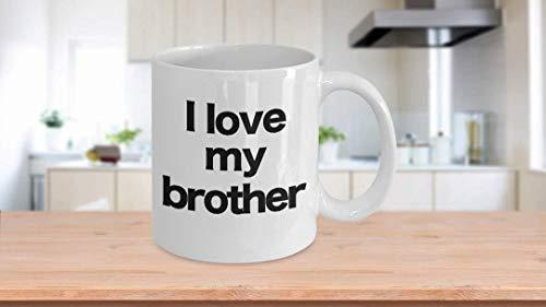 11 oz Koffie Mok, Thee Beker, Hey Brother Mok Wit Koffie Beker Grappig Gift voor Grote Stap Kleine Broeder Valentin