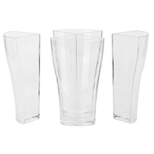 Vaso de cerveza, vaso de cerveza 4 en 1 divisor de licor acrílico Juego de vasos de cerveza Copa de vino para suministros de fiesta de bar(3x4.8inch)