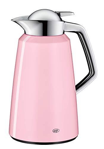 alfi Thermoskanne Vito, Metall rosa 1L, mit alfiDur Glaseinsatz, 1611.238.100, Isolierkanne hält 12 Stunden heiß, ideal als Kaffeekanne oder Teekanne, Kanne für 8 Tassen