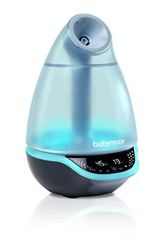 Babymoov Hygro Plus, digitaler Luftbefeuchter mit Nachtlicht (7 Farben), automatische Feuchtigkeitsregelung, Vernebler für ätherische Öle