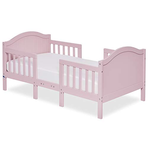 Dream On Me Portland 3 In 1 Convertible Toddler Bed in Pink