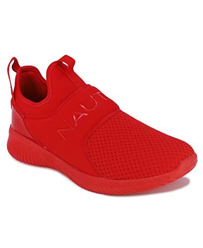 Nautica Men's Casual Fashion Sneakers-Walking Shoes-Lightweight Joggers-Coaster-Red Mono-11