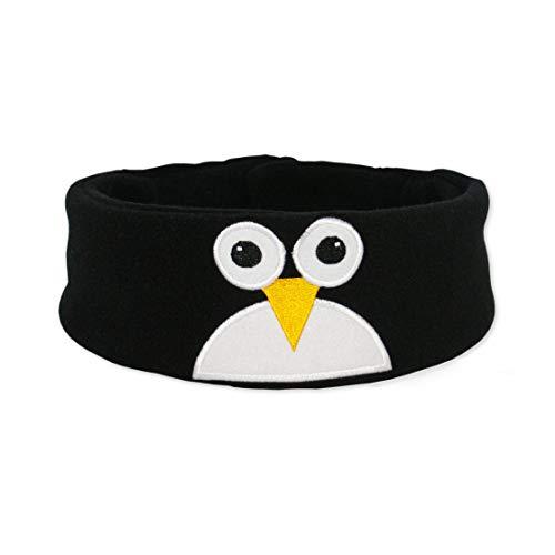 Snuggly Rascals (v.2) Kinder-Kopfhörer, Ultra-bequem, größenverstellbar und mit begrenzter Lautstärke (Baumwolle, Pinguin)