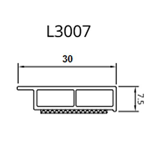 Drutex Dekor Abdeckleiste Fensterleiste 6m 30 mm-7,5 mm Kunststoffleiste/Breite (Leiste):30mm, Farbe:Mahagoni