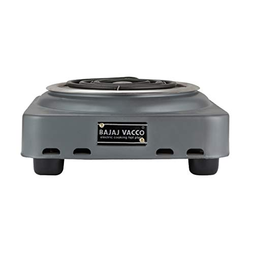 BAJAJ VACCO Electric Coil Hot Plate 1000 Watt PC W/O Reg (Black)