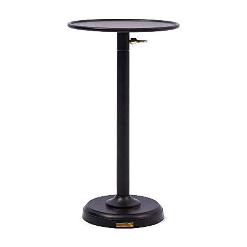 Riviera Maison - Beistelltisch/Sofatisch- Venice Adjustable Sofa Table M - Aluminium schwarz - DxH ca. 29 x 58-84,5 cm