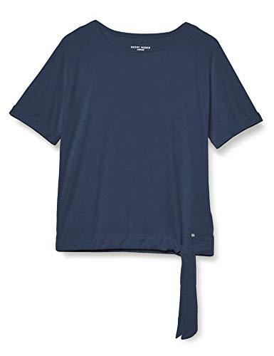 Gerry Weber Casual Damen 270112-44014 T-Shirt, Blau (Denim Daze 80864), (Herstellergröße: 38)