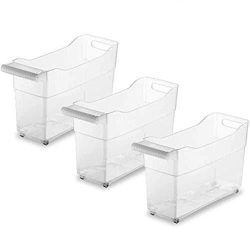 TIENDA EURASIA Pack 3 - Organizador de Armarios de Cocina - Especial Almacenaje de Productos de Limpieza. Fabricado