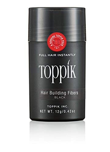 Toppik Hair Building Fibers -Black 12 gm - Smart and Instant solution for Head-full of hair for Men & women, complete coverage of Bald patches or Hair thinning, Kertain fibers for Hair loss coverage