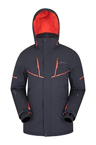 Mountain Warehouse Galactic Extreme Skijacke für Herren - Warme Snowboardjacke. Atmungsaktiv, versiegelte Nähte, abnehmbaren Schneerock - Ideale Winterjacke Grau M