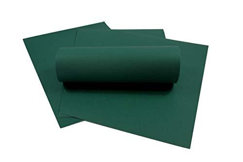 ZADAWERK® Tonkarton - 230 g/m² - DIN A3 - Dunkelgrün - 50 Stück - basteln - Kinder