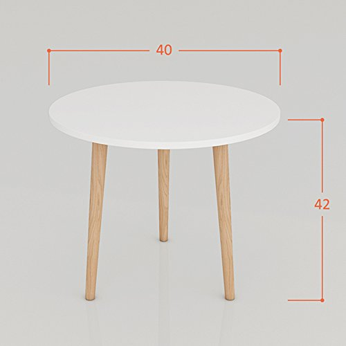 JU FU Salon Chambre Balcon Petite table basse Table à manger Table à thé Bureau d'ordinateur Simple Table Mini Table de chevet Table ronde Table d'appoint Table d'angle Petite Table ronde Canapé Bord