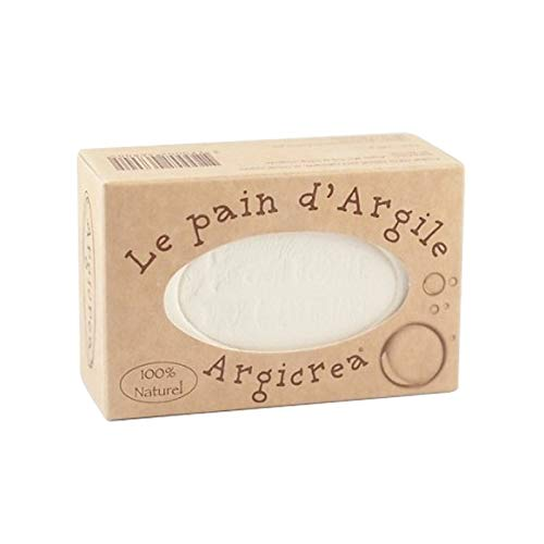 PAIN D'ARGILE BLANCHE(KAOLIN) VISAGE, CORPS ET CHEVEUX ARGICREA 100% NATUREL 320G MADE IN FRANCE